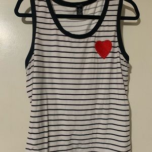 Rue 21 stripe tank with heart